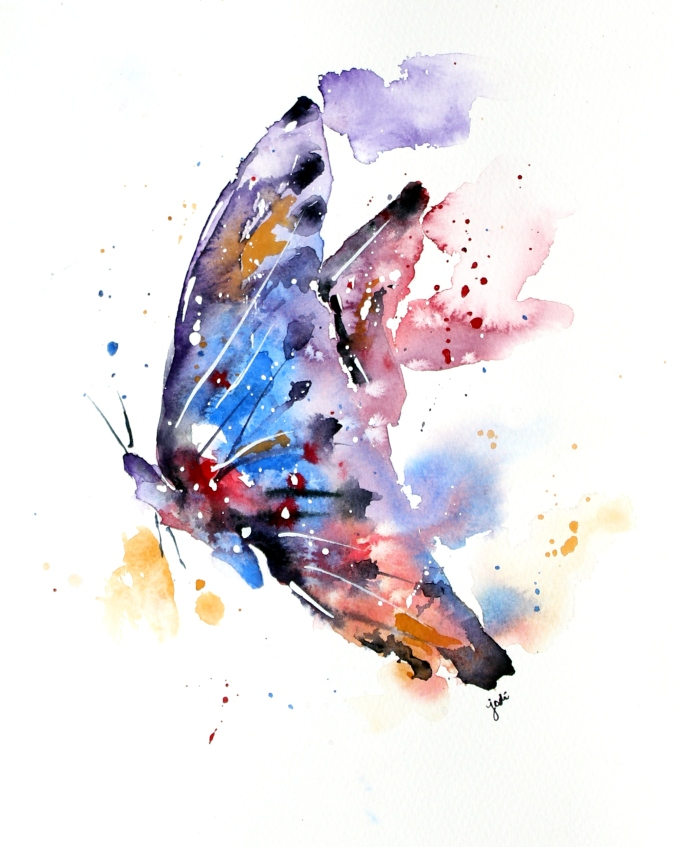 Watercolor Butterfly 8x10 Fabriano 140lb Cold Press