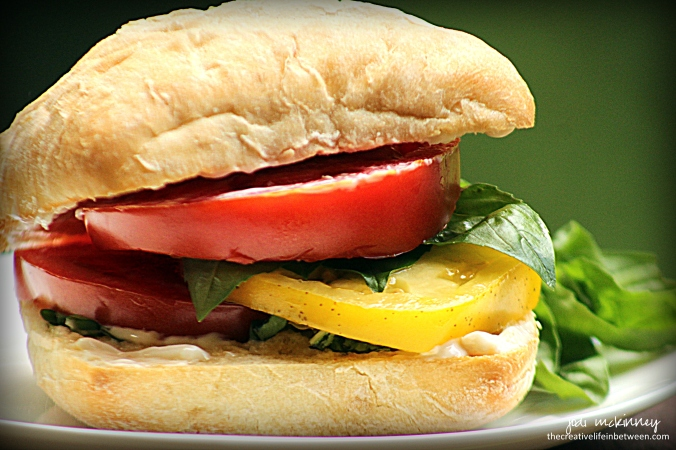 Fresh Tomato and Basil Sandwich - Best Summer Sammie