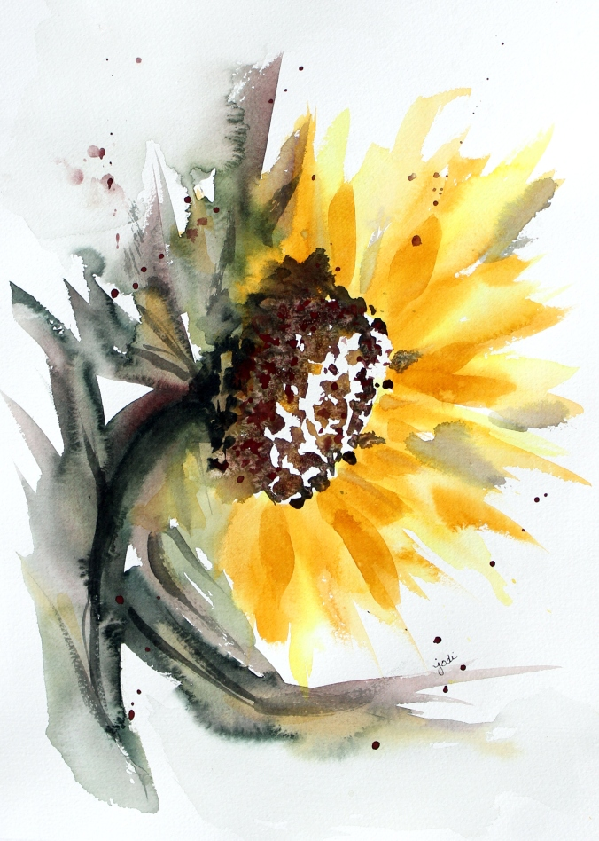 Sunflower Watercolor 11x14 140lb Saunders Waterford