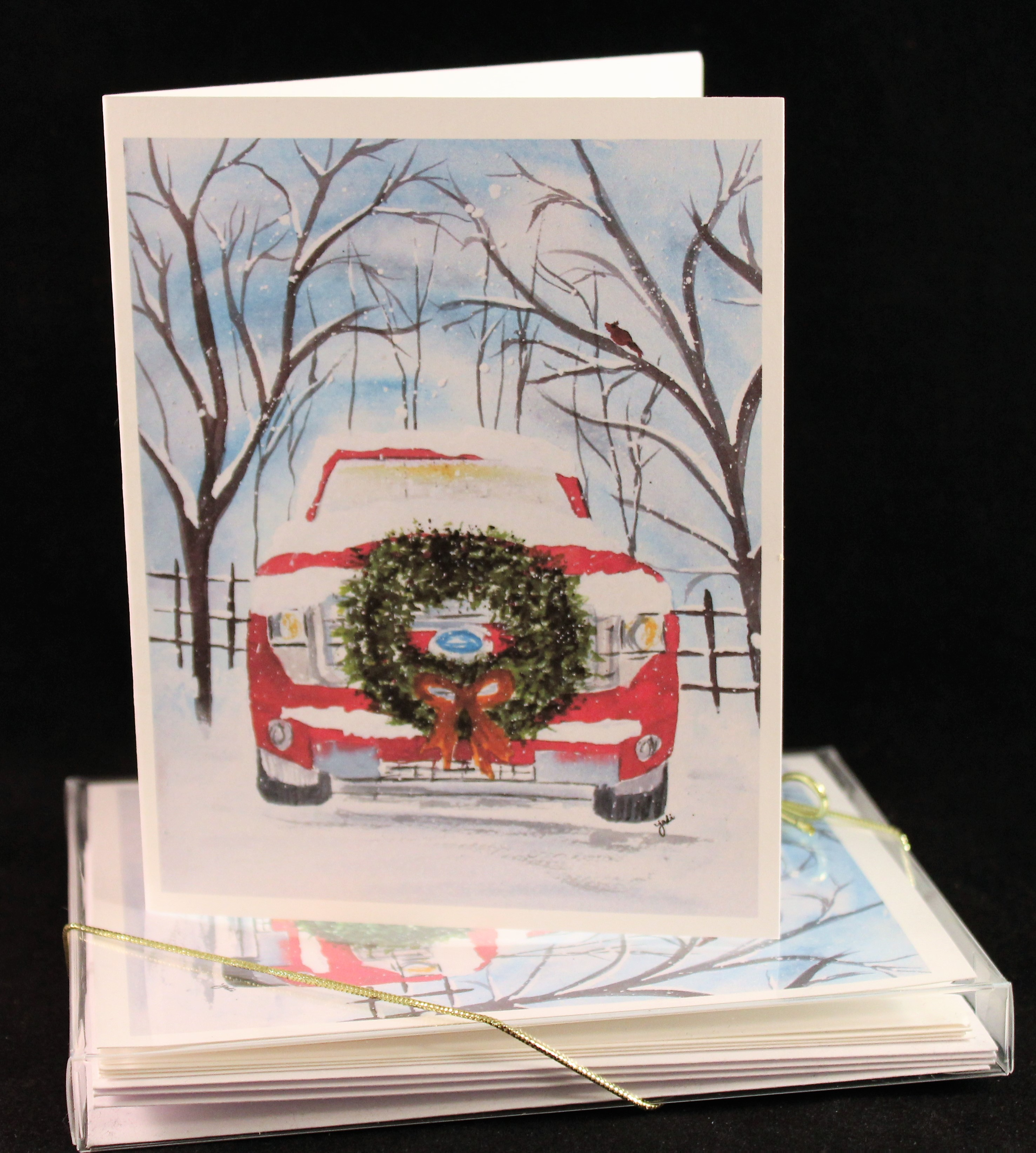Old Truck With Christmas Tree Painting.Craft The Creative Life In Between