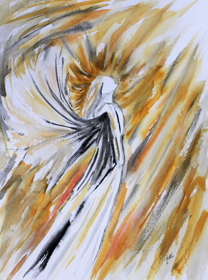 Golden Angel Watercolor 11x14 140lb Cold Press