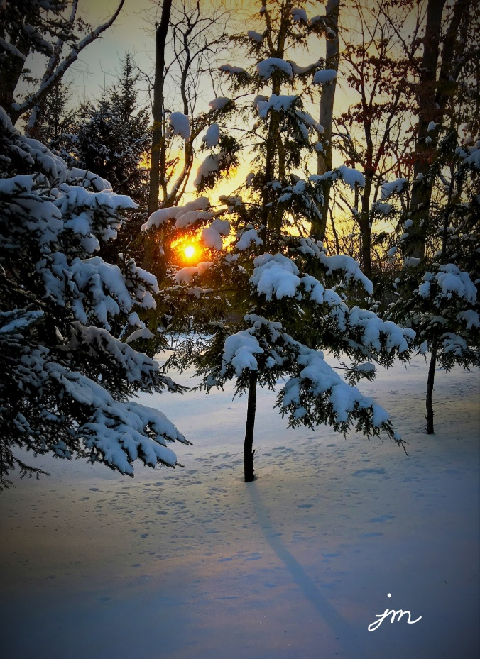 A Snowy Stroll at Sunset - January, 2018 - Mars PA