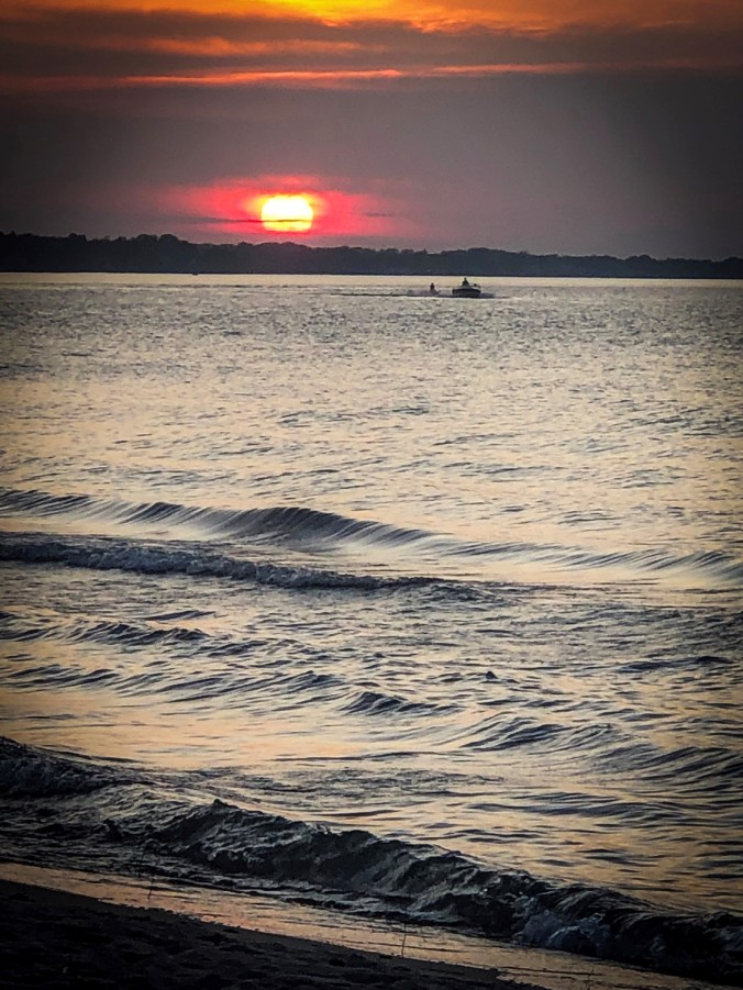 Sunset over Lake Ontario, Rochester, NY - August, 2019